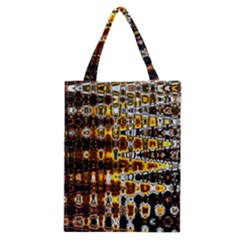Bright Yellow And Black Abstract Classic Tote Bag