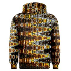 Bright Yellow And Black Abstract Men s Pullover Hoodie