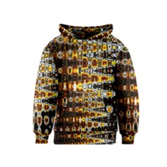 Bright Yellow And Black Abstract Kids  Pullover Hoodie