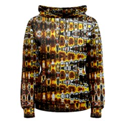 Bright Yellow And Black Abstract Women s Pullover Hoodie