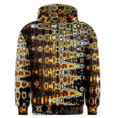 Bright Yellow And Black Abstract Men s Zipper Hoodie