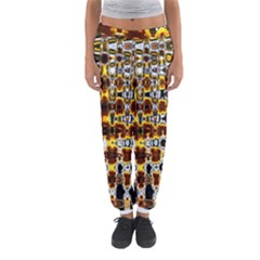 Bright Yellow And Black Abstract Women s Jogger Sweatpants