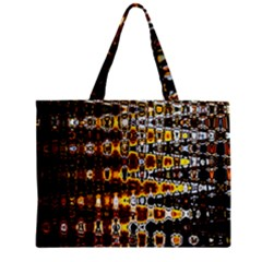 Bright Yellow And Black Abstract Zipper Mini Tote Bag