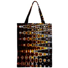 Bright Yellow And Black Abstract Zipper Classic Tote Bag