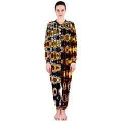 Bright Yellow And Black Abstract OnePiece Jumpsuit (Ladies)
