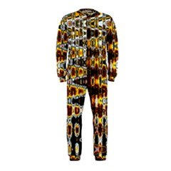 Bright Yellow And Black Abstract Onepiece Jumpsuit (kids)