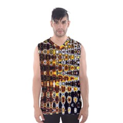 Bright Yellow And Black Abstract Men s Basketball Tank Top