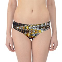 Bright Yellow And Black Abstract Hipster Bikini Bottoms
