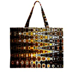 Bright Yellow And Black Abstract Large Tote Bag