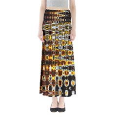 Bright Yellow And Black Abstract Maxi Skirts