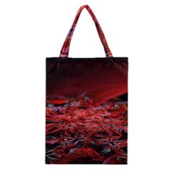Red Fractal Valley In 3d Glass Frame Classic Tote Bag
