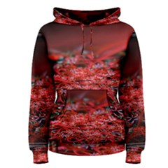 Red Fractal Valley In 3d Glass Frame Women s Pullover Hoodie