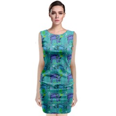 Elephants Animals Pattern Classic Sleeveless Midi Dress