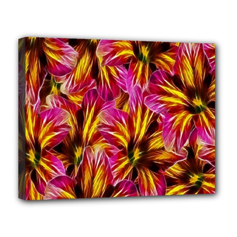 Floral Pattern Background Seamless Canvas 14  x 11