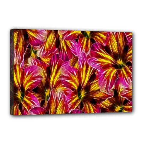 Floral Pattern Background Seamless Canvas 18  x 12