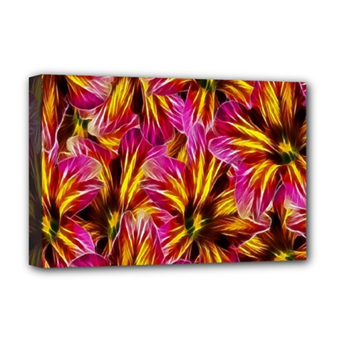 Floral Pattern Background Seamless Deluxe Canvas 18  x 12