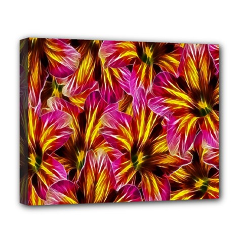 Floral Pattern Background Seamless Deluxe Canvas 20  X 16