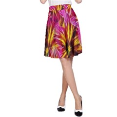 Floral Pattern Background Seamless A Line Skirt