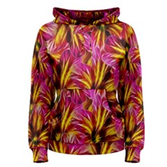 Floral Pattern Background Seamless Women s Pullover Hoodie