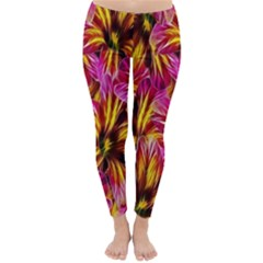 Floral Pattern Background Seamless Classic Winter Leggings