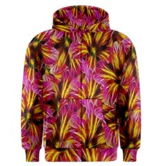 Floral Pattern Background Seamless Men s Zipper Hoodie