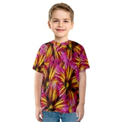Floral Pattern Background Seamless Kids  Sport Mesh Tee