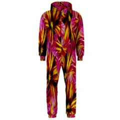 Floral Pattern Background Seamless Hooded Jumpsuit (men)