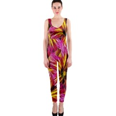 Floral Pattern Background Seamless Onepiece Catsuit