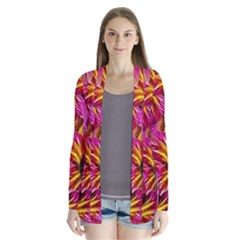 Floral Pattern Background Seamless Cardigans