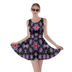 Digital Computer Graphic Seamless Wallpaper Skater Dress