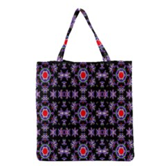 Digital Computer Graphic Seamless Wallpaper Grocery Tote Bag