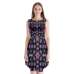 Digital Computer Graphic Seamless Wallpaper Sleeveless Chiffon Dress