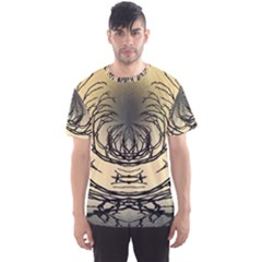 Atmospheric Black Branches Abstract Men s Sport Mesh Tee