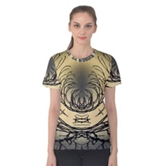 Atmospheric Black Branches Abstract Women s Cotton Tee