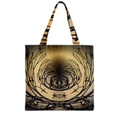 Atmospheric Black Branches Abstract Grocery Tote Bag