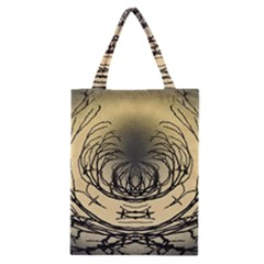 Atmospheric Black Branches Abstract Classic Tote Bag
