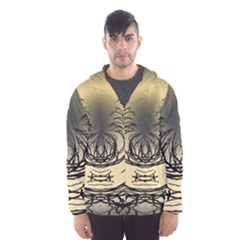 Atmospheric Black Branches Abstract Hooded Wind Breaker (men)