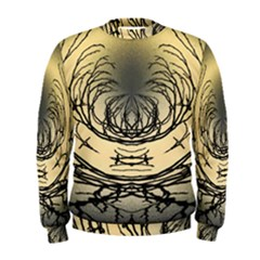 Atmospheric Black Branches Abstract Men s Sweatshirt