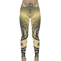 Atmospheric Black Branches Abstract Classic Yoga Leggings