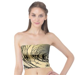 Atmospheric Black Branches Abstract Tube Top