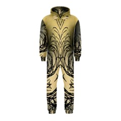 Atmospheric Black Branches Abstract Hooded Jumpsuit (kids)