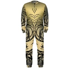 Atmospheric Black Branches Abstract OnePiece Jumpsuit (Men)