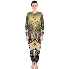 Atmospheric Black Branches Abstract Onepiece Jumpsuit (ladies)
