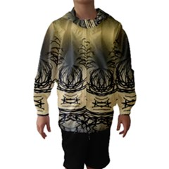 Atmospheric Black Branches Abstract Hooded Wind Breaker (kids)