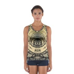 Atmospheric Black Branches Abstract Women s Sport Tank Top