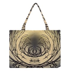 Atmospheric Black Branches Abstract Medium Tote Bag