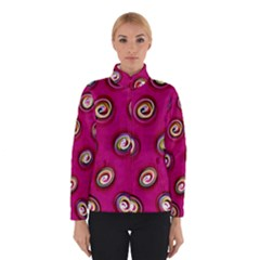 Digitally Painted Abstract Polka Dot Swirls On A Pink Background Winterwear