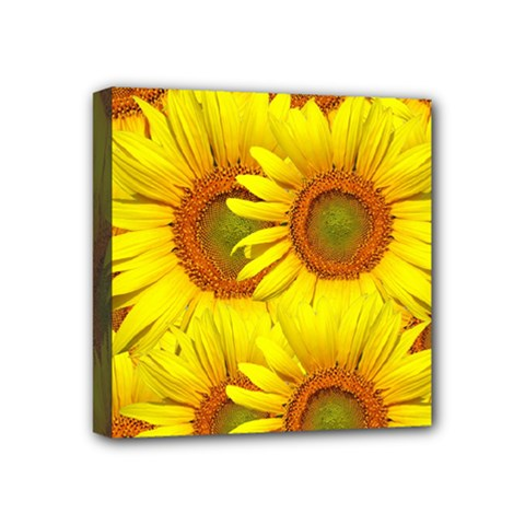 Sunflowers Background Wallpaper Pattern Mini Canvas 4  X 4