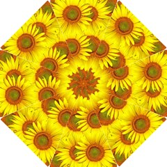 Sunflowers Background Wallpaper Pattern Hook Handle Umbrellas (Small)