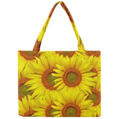 Sunflowers Background Wallpaper Pattern Mini Tote Bag
